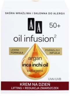 AA Cosmetics Oil Infusion2 Argan Inca Inchi 50+ creme de dia lifting antirrugas