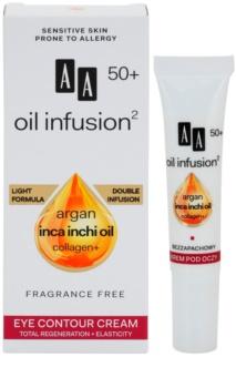AA Cosmetics Oil Infusion2 Argan Inca Inchi 50+ regenerierende Creme für die Augenpartien