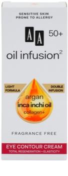 AA Cosmetics Oil Infusion2 Argan Inca Inchi 50+ regenerační krém na oční okolí