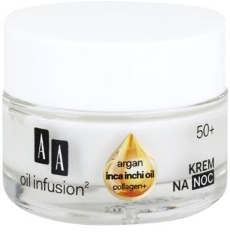 AA Cosmetics Oil Infusion2 Argan Inca Inchi 50+ Herstellende Nachtcrème  met Remodelling Effectiviteit