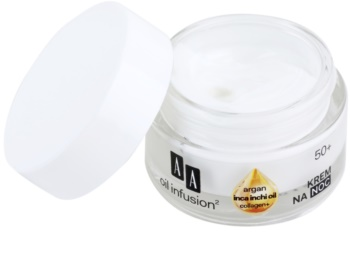 AA Cosmetics Oil Infusion2 Argan Inca Inchi 50+ Regenerating Night Cream With Remodelling Effectiveness