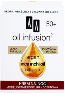 AA Cosmetics Oil Infusion2 Argan Inca Inchi 50+ noćna krema za regeneraciju s učinkom preoblikovanja