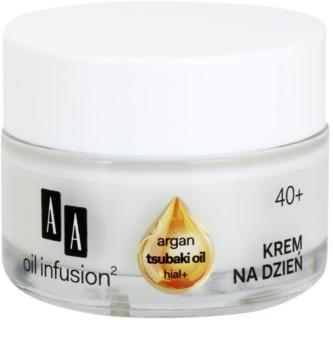AA Cosmetics Oil Infusion2 Argan Tsubaki 40+ κρέμα ημέρας για αποκατάσταση της σφριγηλότητας της επιδερμίδας με αντιρυτιδικά αποτέλεσματα