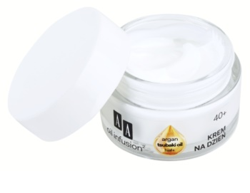 AA Cosmetics Oil Infusion2 Argan Tsubaki 40+ creme dia para restaurar a firmeza da pele com efeito antirrugas
