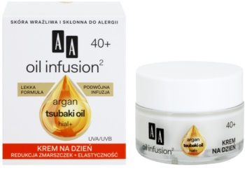 AA Cosmetics Oil Infusion2 Argan Tsubaki 40+ crema de zi pentru restabilirea fermitatii cu efect antirid