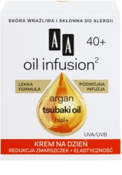 AA Cosmetics Oil Infusion2 Argan Tsubaki 40+ дневен крем за възстановяване стегнатостта на кожата с анти-бръчков ефект