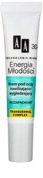 AA Cosmetics Age Technology Youthful Vitality hydratační a vyhlazující oční krém 30+