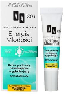 AA Cosmetics Age Technology Youthful Vitality krem pod oczy nawilżający i wygładzający 30+