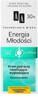 AA Cosmetics Age Technology Youthful Vitality hydratačný a vyhladzujúci očný krém 30+