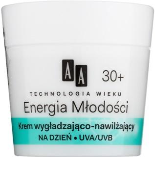 AA Cosmetics Age Technology Youthful Vitality hydratační a vyhlazující pleťový krém 30+