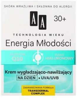 AA Cosmetics Age Technology Youthful Vitality hidratáló és bőrkisimító arckrém 30+
