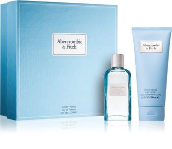 abercrombie & fitch first instinct blue woman woda perfumowana 50 ml  zestaw