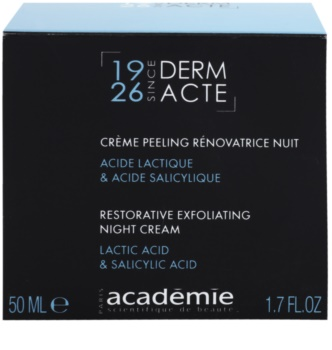 Academie Derm Acte Intense Age Recovery αντιρυτιδική κρέμα νύχτας με αποτέλεσμα απολέπισης