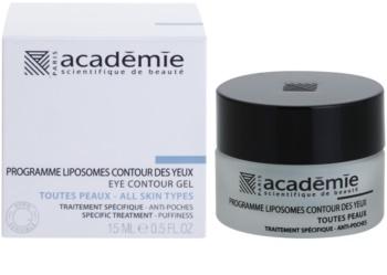 Academie All Skin Types изглаждащ очен гел против отоци
