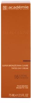 Academie Bronzécran creme facial com cor SPF 6