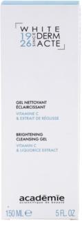 Academie Derm Acte Whitening очищуючий гель для сяючої шкіри