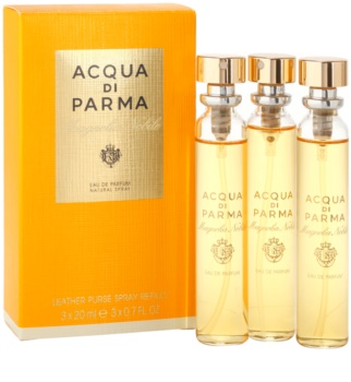 Acqua di Parma Nobile Magnolia Nobile Eau de Parfum für Damen 3 x 20 ml Dreifach-Nachfüllpackung mit Zerstäuber