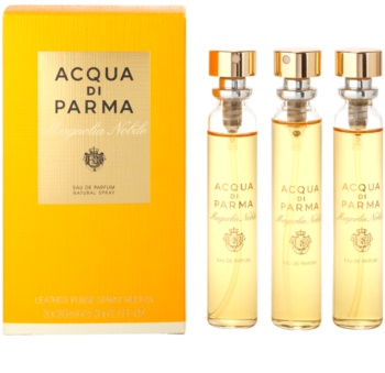 Acqua di Parma Magnolia Nobile Eau de Parfum for Women 3 x 20 ml (3x Refill with Vaporiser)