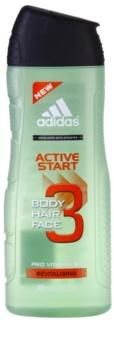 Adidas 3 Active Start (New) tusfürdő férfiaknak 400 ml