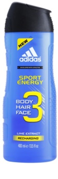 Adidas A3 Sport Energy Douchegel voor Mannen 400 ml