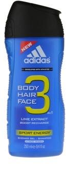 Adidas A3 Sport Energy gel de douche pour homme 250 ml