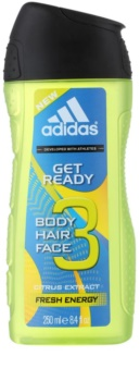 Adidas Get Ready! tusfürdő férfiaknak 250 ml 2 az 1-ben
