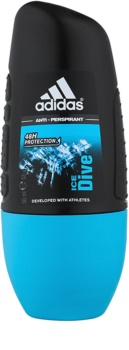 Adidas Ice Dive deodorant roll-on pentru bărbați 50 ml