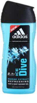 Adidas Ice Dive sprchový gel pro muže 250 ml