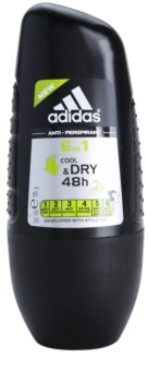 Adidas 6 in 1 Cool & Dry déodorant roll-on pour homme 50 ml