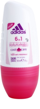 Adidas 6 in 1  Cool & Care deo-roll-on za ženske 50 ml