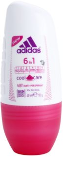 Adidas 6 in 1  Cool & Care desodorante roll-on para mujer 50 ml