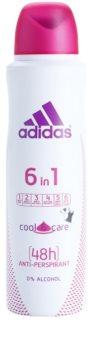 Adidas 6 in 1  Cool & Care deo sprej za ženske 150 ml