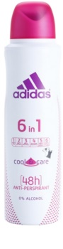 Adidas 6 in 1  Cool & Care deospray pre ženy 150 ml