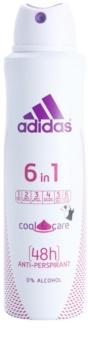 Adidas 6 in 1  Cool & Care dezodor nőknek 150 ml