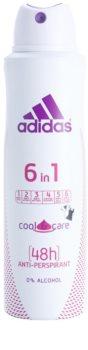Adidas 6 in 1  Cool & Care dezodorant w sprayu dla kobiet 150 ml