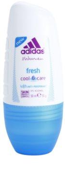 Adidas Fresh Cool & Care Αποσμητικό roll-on για γυναίκες 50 μλ