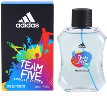 Adidas Team Five Eau de Toilette for Men 100 ml