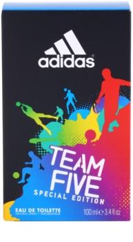 Adidas Team Five Eau de Toilette para homens 100 ml
