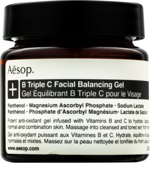 Aésop B Triple C Facila Balancing Gel antioxidáns arcgél vitaminokkal