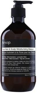 Aēsop Hair Rose máscara hidratante para cabelo e couro cabeludo