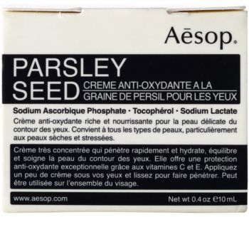 Aēsop Skin Parsley Seed antioxidáns szemkrém