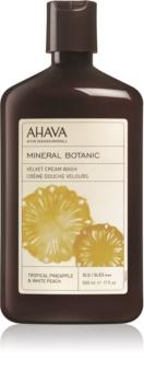 Ahava Mineral Botanic Tropical Pineapple & White Peach baršunasta krema za tuširanje