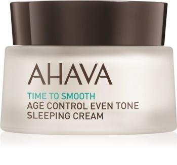 Ahava Time To Smooth aufhellende Nachtcreme gegen die ersten Anzeichen von Hautalterung