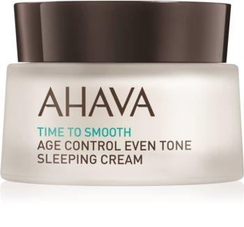 Ahava Time To Smooth posvjetljujuća noćna krema protiv prvih znakova starenja kože