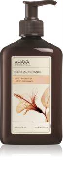 Ahava Mineral Botanic Hibiscus & Fig sametové tělové mléko