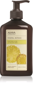 Ahava Mineral Botanic Tropical Pineapple & White Peach jedwabiste mleczko do ciała