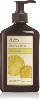 Ahava Mineral Botanic Tropical Pineapple & White Peach svilnati losjon za telo