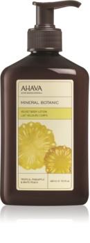 Ahava Mineral Botanic Tropical Pineapple & White Peach zamatové telové mlieko