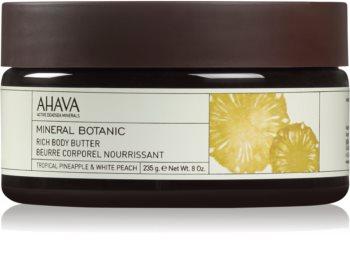 Ahava Mineral Botanic Tropical Pineapple & White Peach nährende Body-Butter