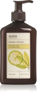 Ahava Mineral Botanic Lemon & Sage jemné tělové mléko